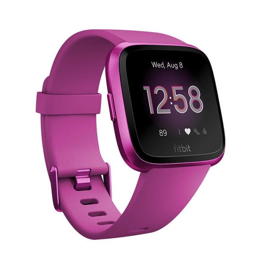 Đồng Hồ Thông Minh Fitbit Versa Lite Edition Mulberry/Mulberry Aluminum FB415PMPM - Hàng Nhập Khẩu