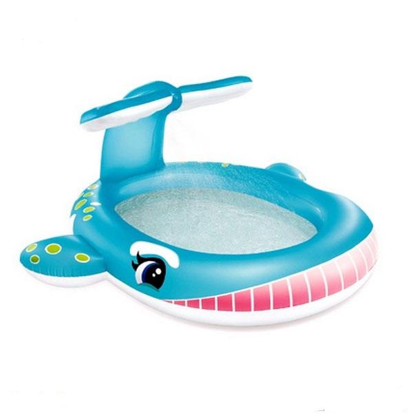 Bể bơi phao cá voi xanh có vòi phun mưa INTEX 57440