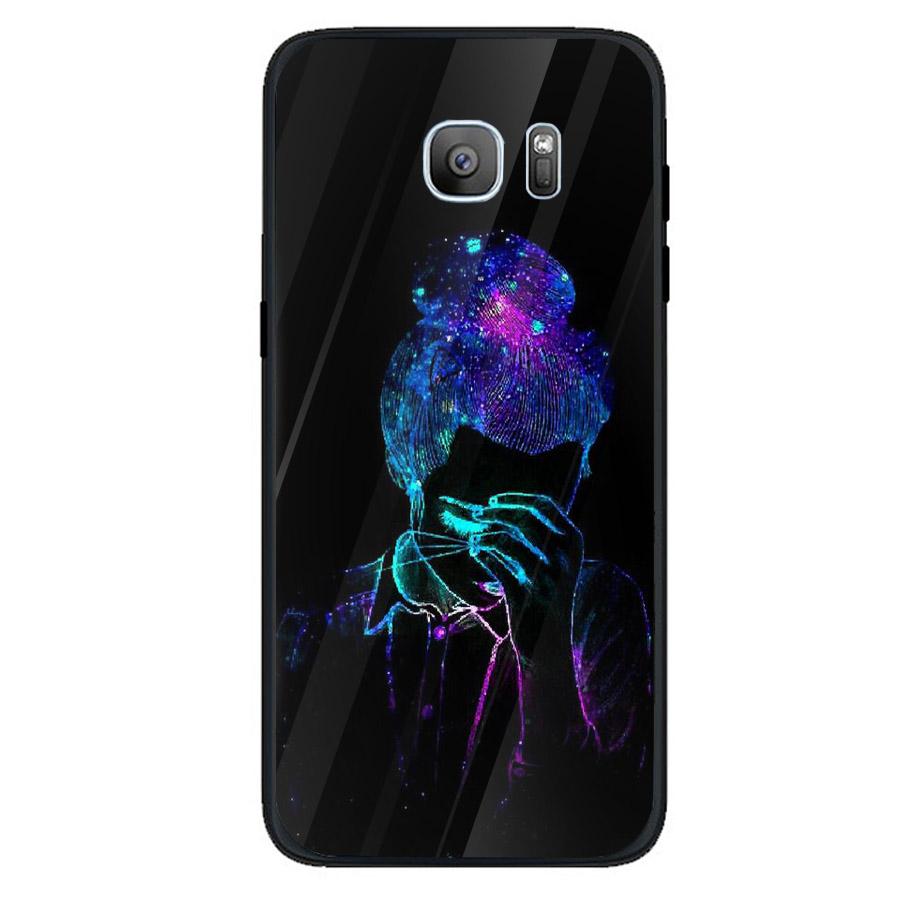 Ốp kính cường lực cho điện thoại Samsung Galaxy S7 - Phía sau một cô gái MS PS1CG029 - Hàng Chính Hãng