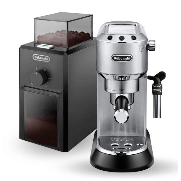 Combo Máy pha cà phê DeLonghi EC685 (Đen) + Máy xay cà phê DeLonghi KG79 (Giao màu ngẫu nhiên theo bộ)