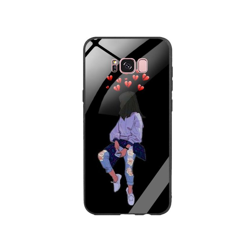 Ốp Lưng Kính Cường Lực cho điện thoại Samsung Galaxy S8 Plus - Alone 05