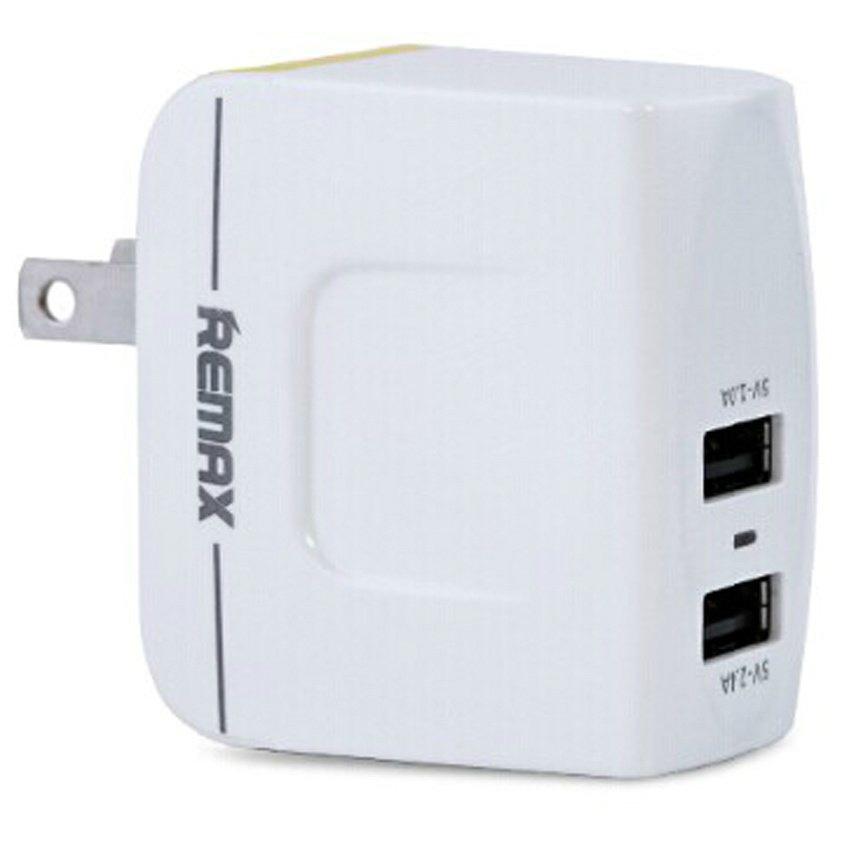 Cục Sạc Điện Thoại Và Máy Tính Bảng 2 Cổng USB 3.4A Remax