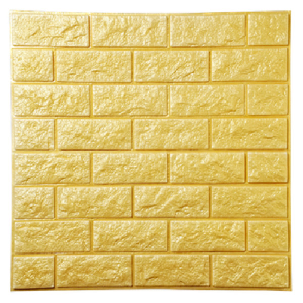 Xốp dán tường 3D Vân đá Vàng Loại dày KT 77X70 - 4832587 , 2164652742775 , 62_16078288 , 90000 , Xop-dan-tuong-3D-Van-da-Vang-Loai-day-KT-77X70-62_16078288 , tiki.vn , Xốp dán tường 3D Vân đá Vàng Loại dày KT 77X70