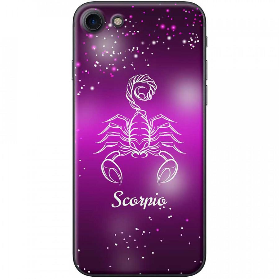Ốp lưng  dành cho iPhone 7, iPhone 8 mẫu Cung hoàng đạo Scorpio (hồng)