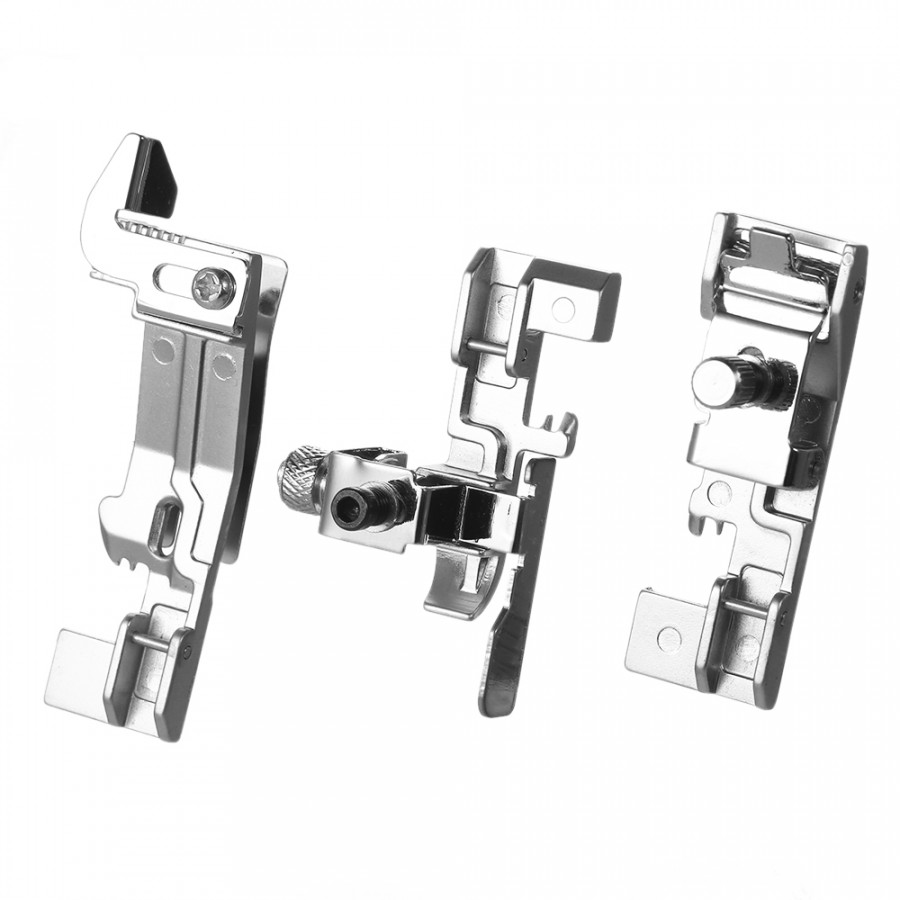 6pcs Optional Overlock Feet Set Professional Serger Presser Foot Kit for Juki Singer Brother