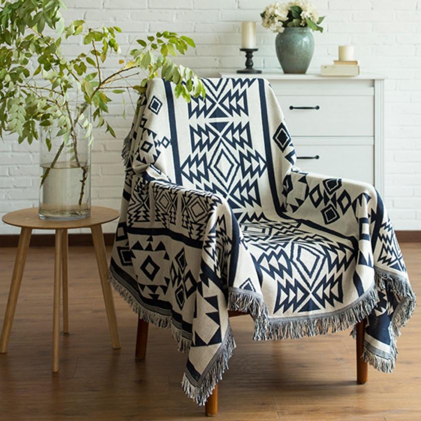Thảm Sofa, Thảm Trang Trí Thổ Cẩm, khăn phủ, chăn phủ (130cm x 180cm)