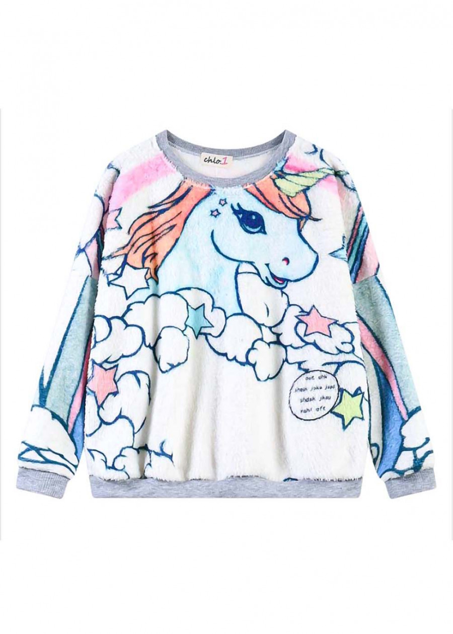Áo sweatshirt lông thú unicorn Mã: AX3898