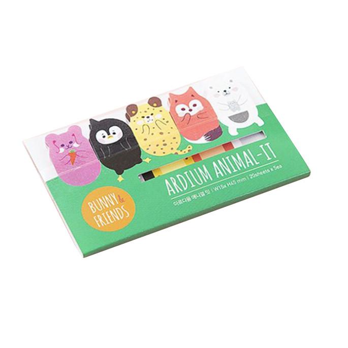 Giấy ghi chú note phân trang Animal
