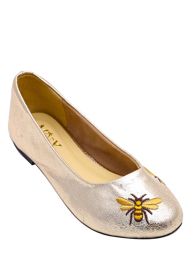 Giày búp bê Mozy thêu da mờ MZBB42.1