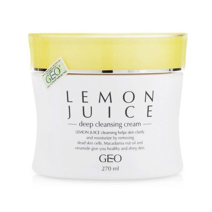 Kem Tẩy Trang Chiết Xuất Chanh Lemon Juice Deep Cleansing Cream Geo (270ml)
