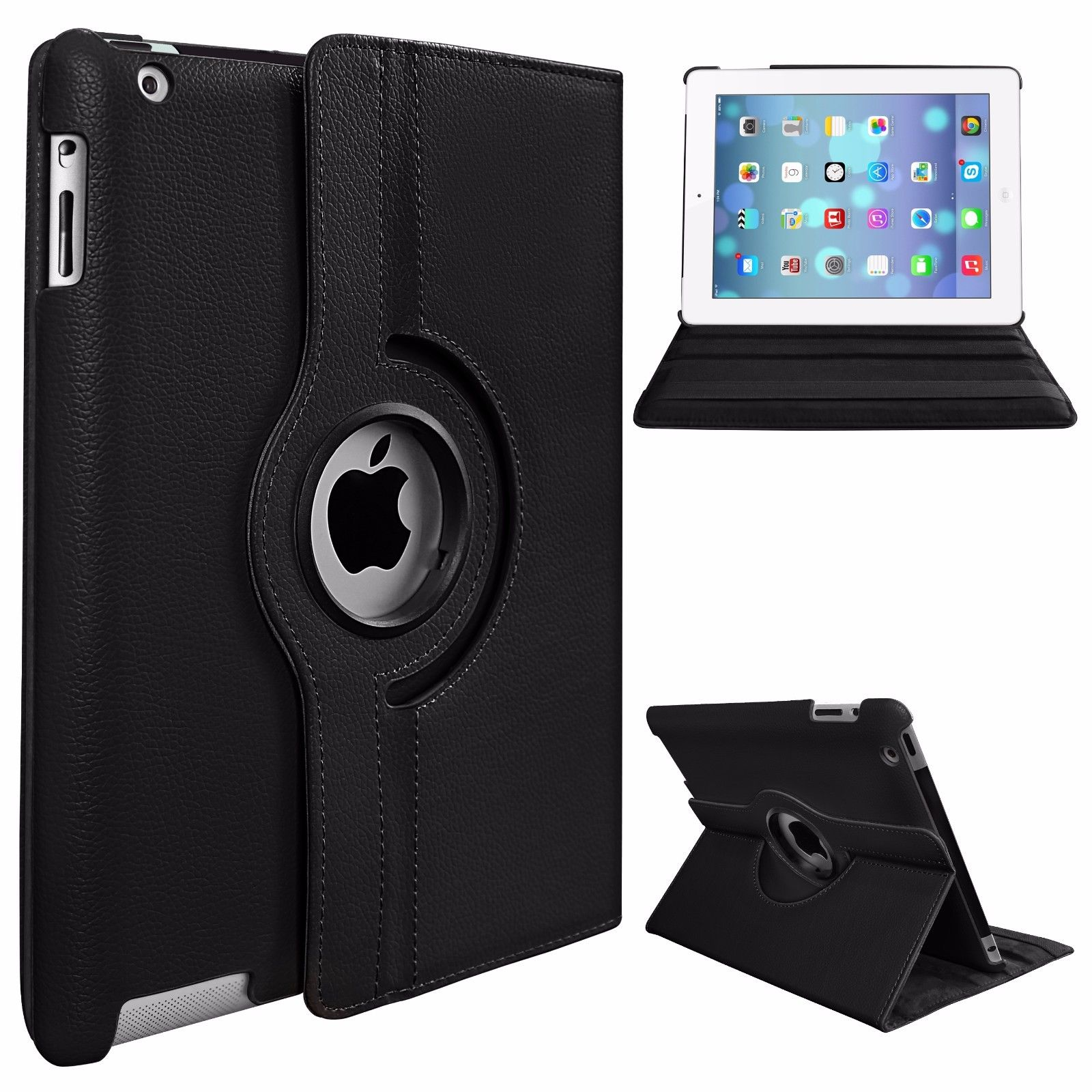 360 Degree Rotating Stand PU Leather Case Cover for Apple iPad2 iPad3 iPad4 - 15805541 , 2625313640606 , 62_31268366 , 174000 , 360-Degree-Rotating-Stand-PU-Leather-Case-Cover-for-Apple-iPad2-iPad3-iPad4-62_31268366 , tiki.vn , 360 Degree Rotating Stand PU Leather Case Cover for Apple iPad2 iPad3 iPad4