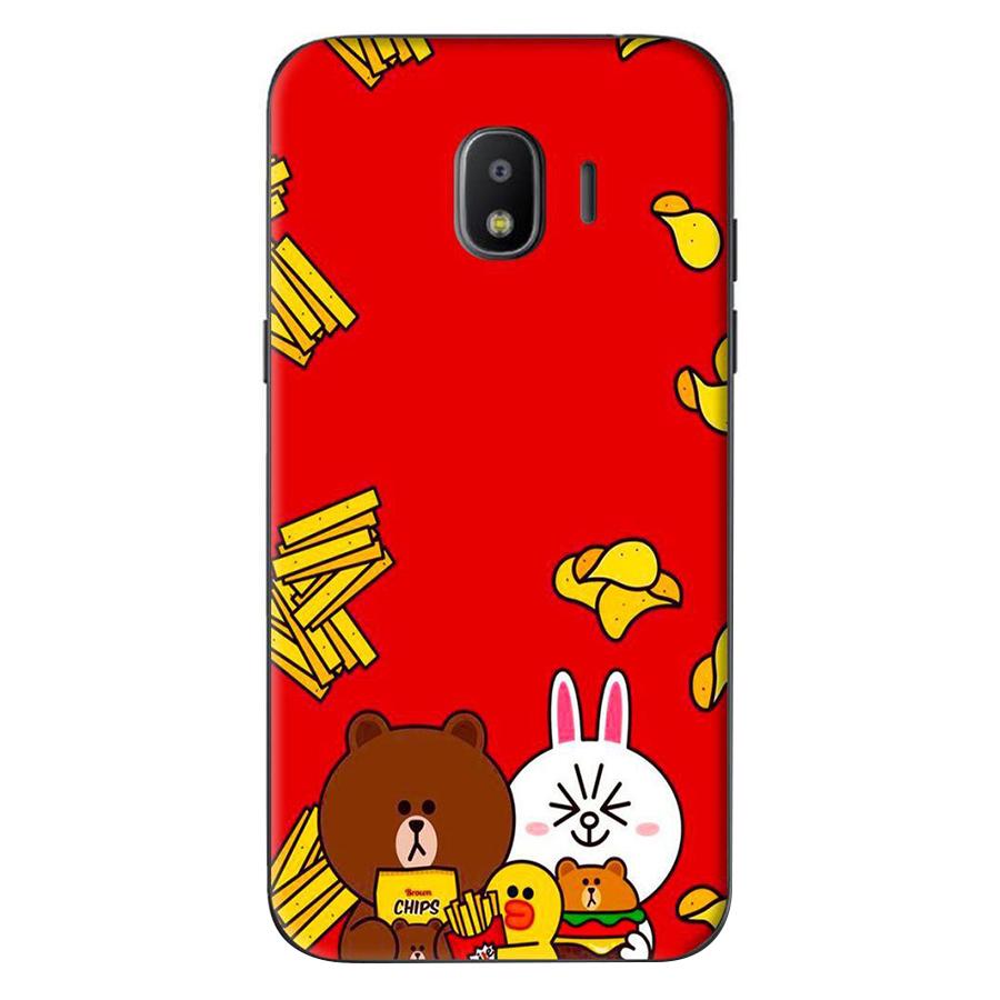 Ốp Lưng Dành Cho Samsung Galaxy J4 2018 / J2 Pro 2018 - Gấu Thỏ Line Khoai Tây
