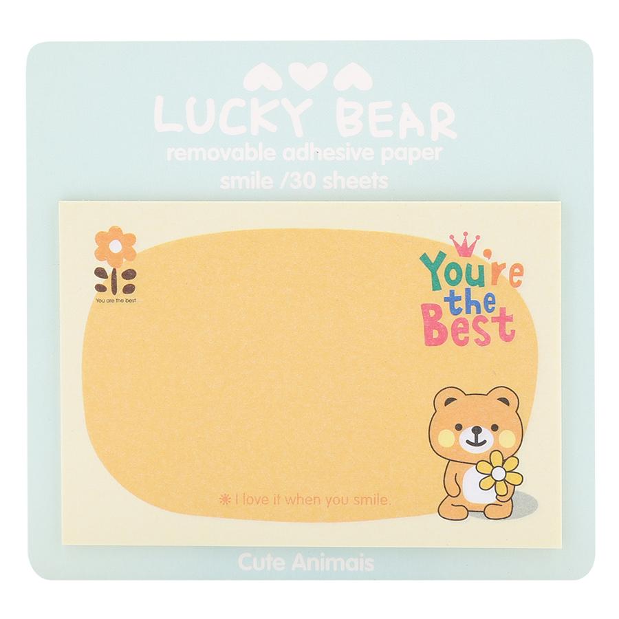 Giấy Note - Lucky Bear - Giao Ngẫu Nhiên Theo Chủ Đề (19 Tờ/ Xấp)