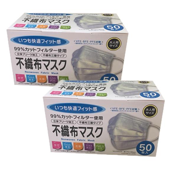 Khẩu Trang Y Tế Kháng Khuẩn (50 Cái) - Nội Địa Nhật Bản