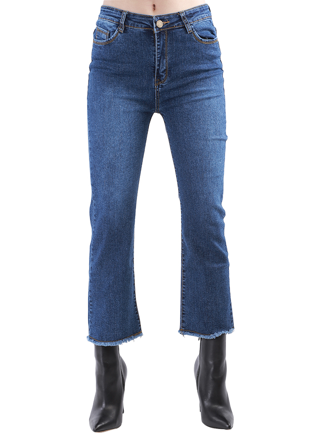 Quần Jeans 9 Tấc Nữ Ống Loe Nhẹ JST012