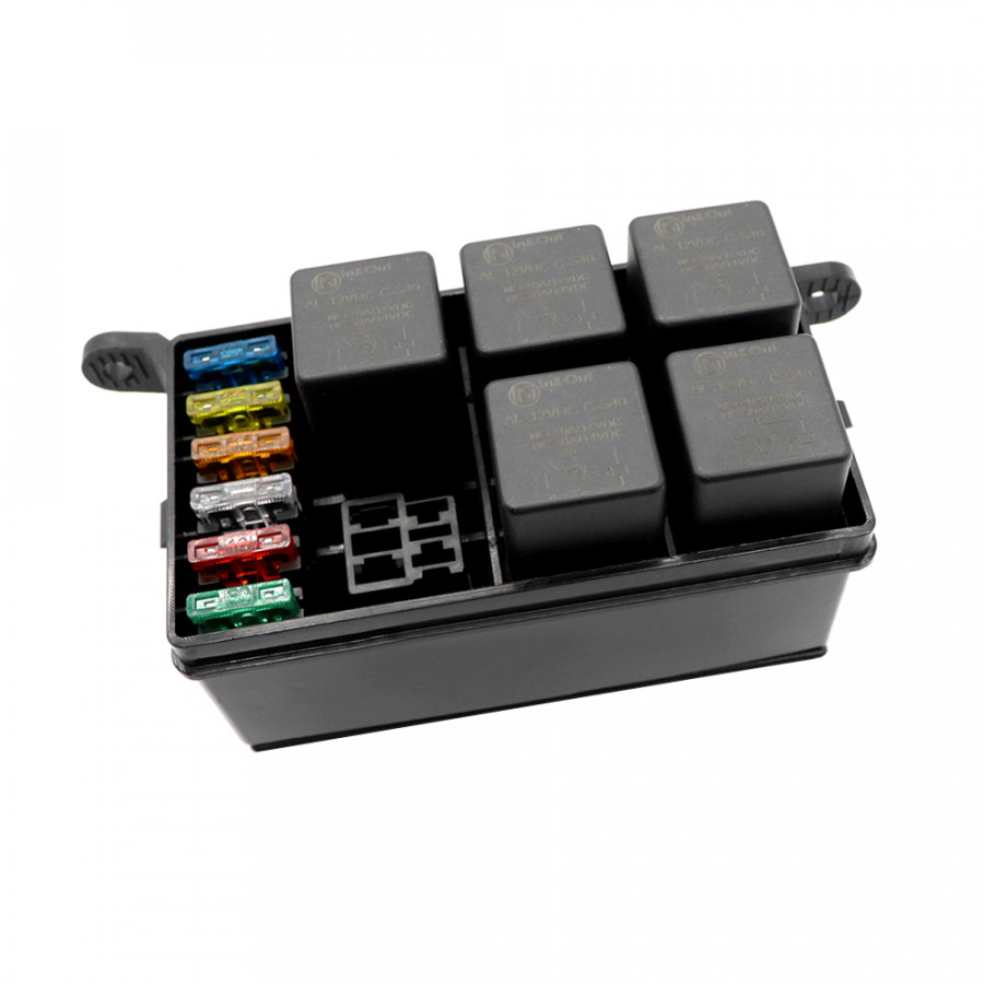 Hot Sale Fuse Box Auto 6 Relay Block Holders 5 Road Fit for Car Truck Marine Boat ATV Insurance