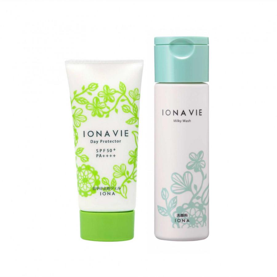 Kem chống nắng cho da nhạy cảm IONAVIE Day Protector FB (60g) TẶNG kèm sửa rửa mặt