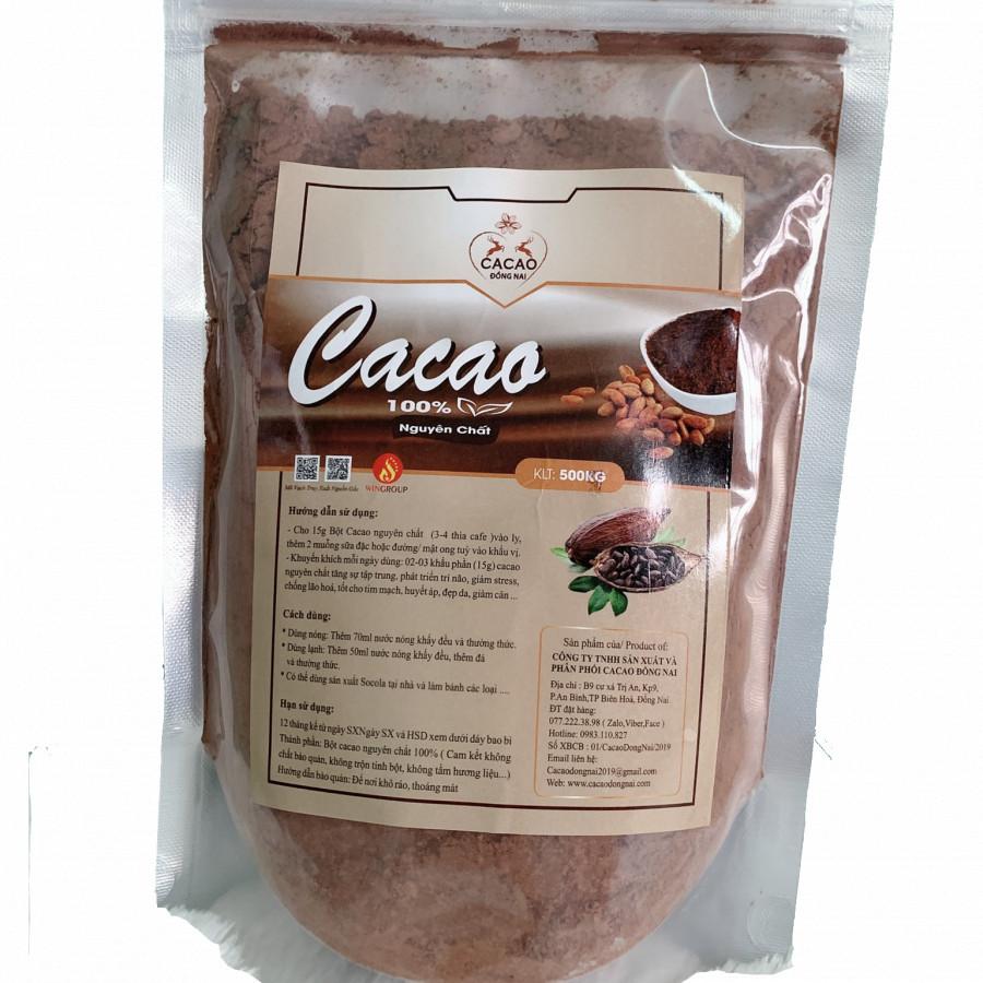 Bột Ca Cao Nguyên Chất 100% Cacao ĐồngNai (500g)