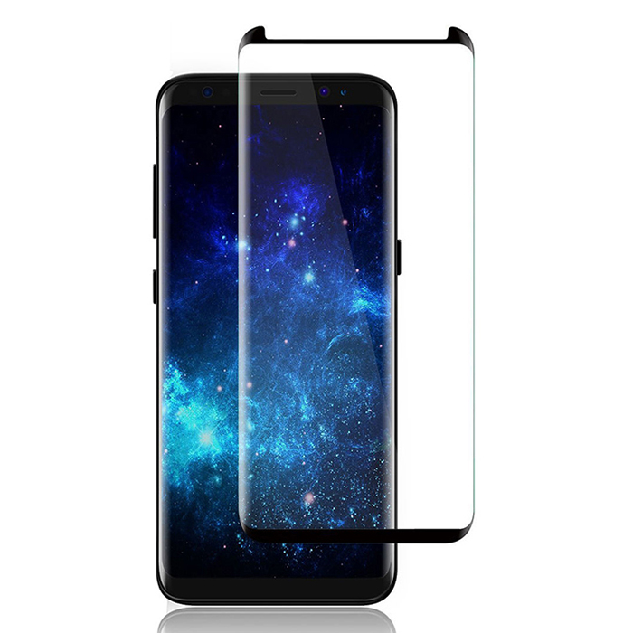 Full Cover Tempered Glass Film Screen For Samsung Galaxy S8 Phone black - Black