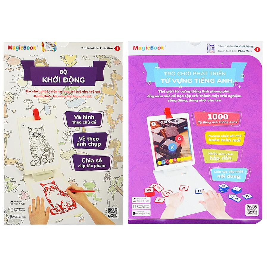 Magicbook Combo L-Box2: Bộ Vẽ Hình + Bộ Phát Triển Từ Vựng Tiếng Anh