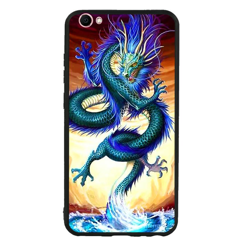 Ốp lưng nhựa cứng viền dẻo TPU cho điện thoại Vivo V5s -Dragon 10
