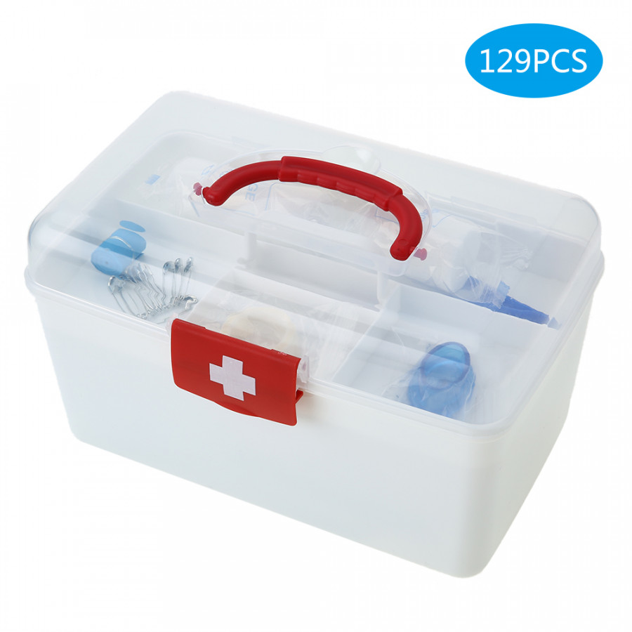 129PCS All Purpose First Aid Kits Box for Home Car Outdoor Family Emergency Medicine Storage Box Organizer Set FDA - 2347117 , 8150879621485 , 62_15284494 , 459000 , 129PCS-All-Purpose-First-Aid-Kits-Box-for-Home-Car-Outdoor-Family-Emergency-Medicine-Storage-Box-Organizer-Set-FDA-62_15284494 , tiki.vn , 129PCS All Purpose First Aid Kits Box for Home Car Outdoor Fam