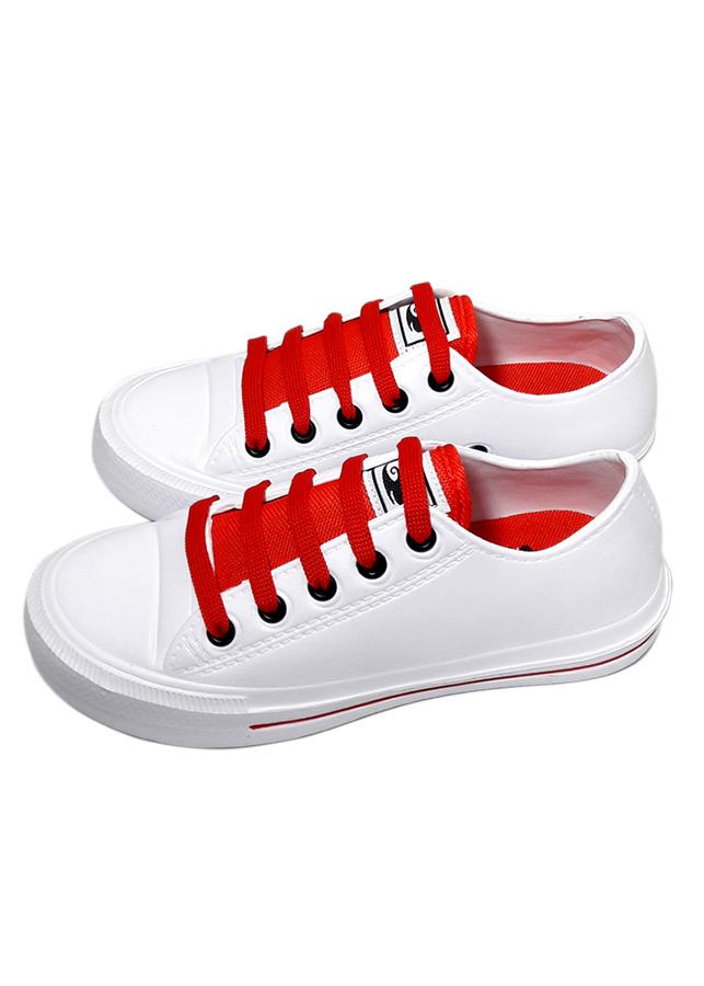 Giày nữ chất liệu xốp thời trang T164K135 - Trắng Đỏ