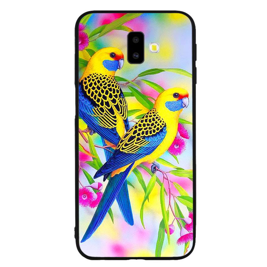 Ốp lưng nhựa cứng viền dẻo TPU cho điện thoại Samsung Galaxy J6 Plus - Couple Bird