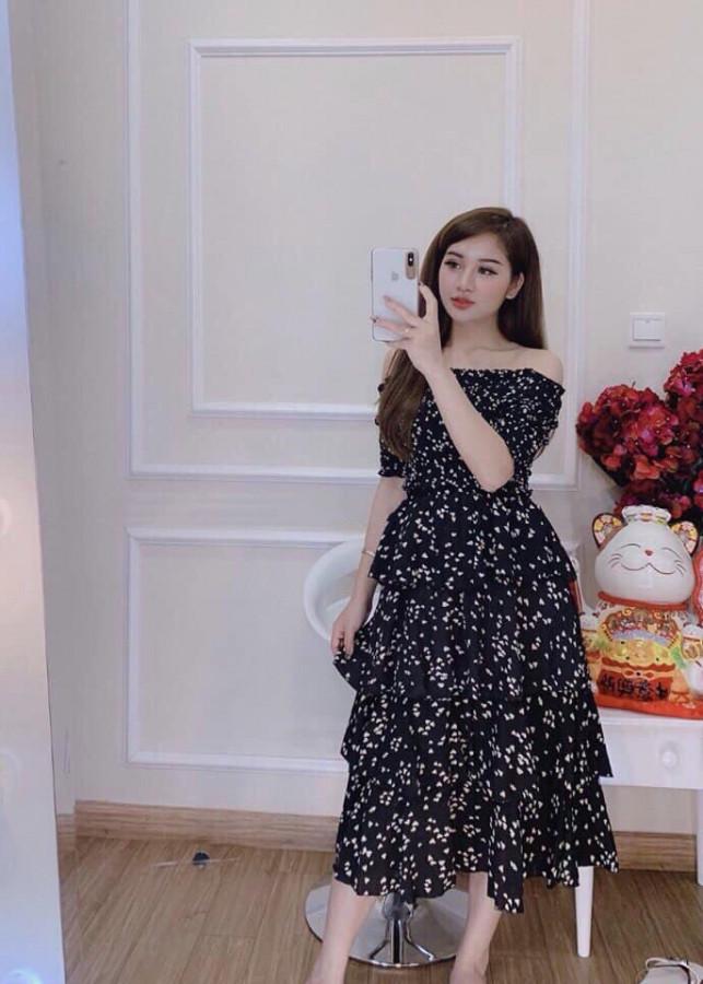 Váy 3 Tầng Quảng Châu Cao Cấp Ảnh Chụp Sàn Và Cận Chất