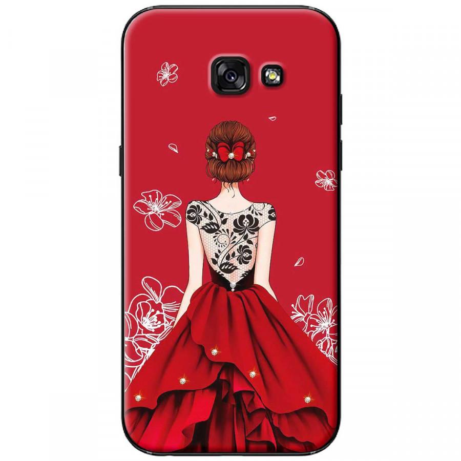 Ốp lưng dành cho Samsung A3 2017 Cô gái váy đỏ áo đen