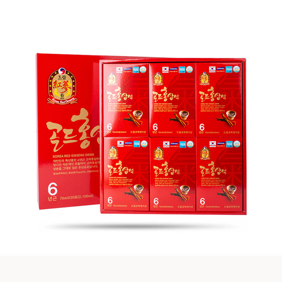 Nước Uống Hồng Sâm 6 Năm Tuổi - Korea Red Ginseng Daeyoung Hàn Quốc (70 ml x 30 gói)