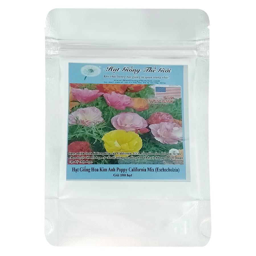 Hạt Giống Hoa Kim Anh Poppy - California Mix - Eschscholzia Californica (100 Hạt)