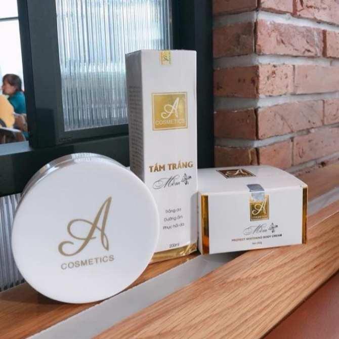 Combo tắm trắng và kem body mềm A Cosmetics giúp dưỡng trắng da toàn thân - 1906577 , 1326796606523 , 62_14616374 , 350000 , Combo-tam-trang-va-kem-body-mem-A-Cosmetics-giup-duong-trang-da-toan-than-62_14616374 , tiki.vn , Combo tắm trắng và kem body mềm A Cosmetics giúp dưỡng trắng da toàn thân