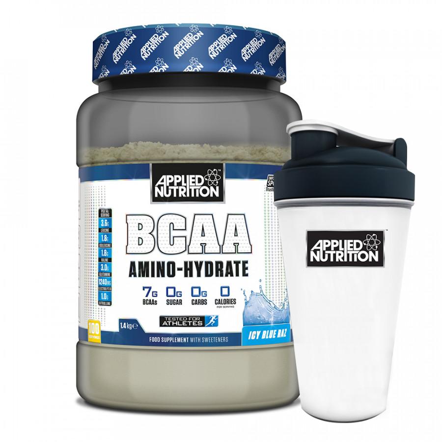 Combo BCAA Amino Hydrate 100 lần dùng vị trái cây phục hồi cơ tăng sức bền  bình lắc 700ml