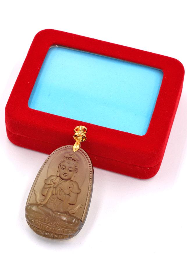 Mặt Phật Đại Nhật như lai đá Obsidian 5 cm MBNN5 kèm hộp nhung