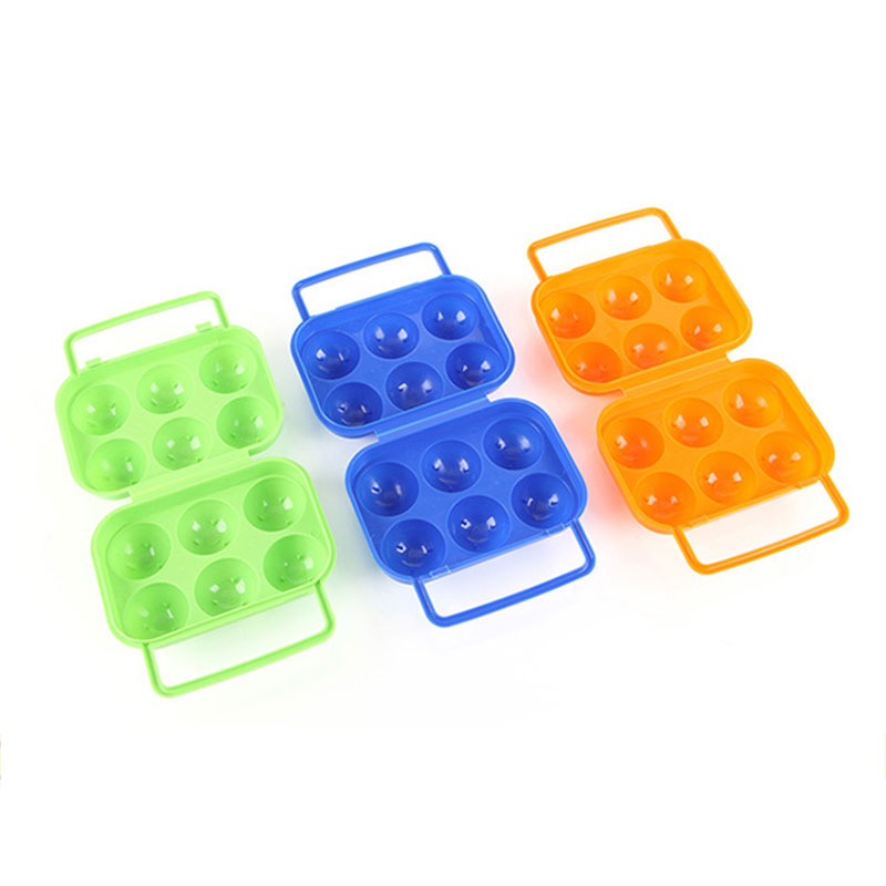 Outdoor Portable 6 Grids Eggs Storage Tray Carrying Box Case Container Holder