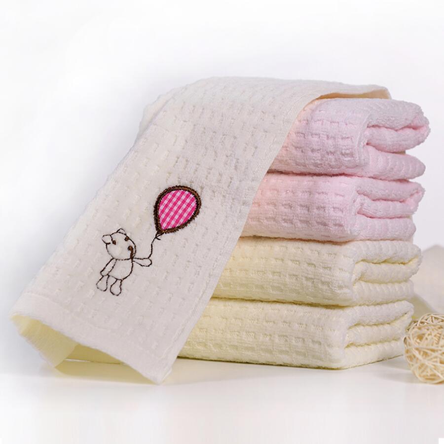 Khăn Cotton Mềm Cho Trẻ Em Vogue Jieyu 25*50cm - Hồng
