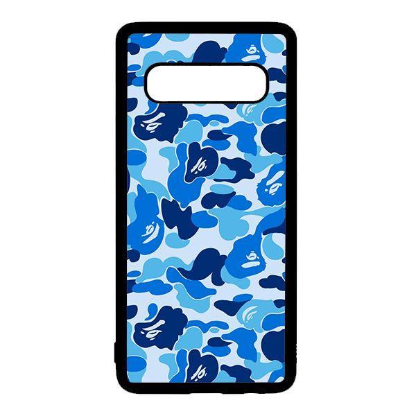 Ốp lưng điện thoại dành cho Samsung S10  Bape Xanh Dương