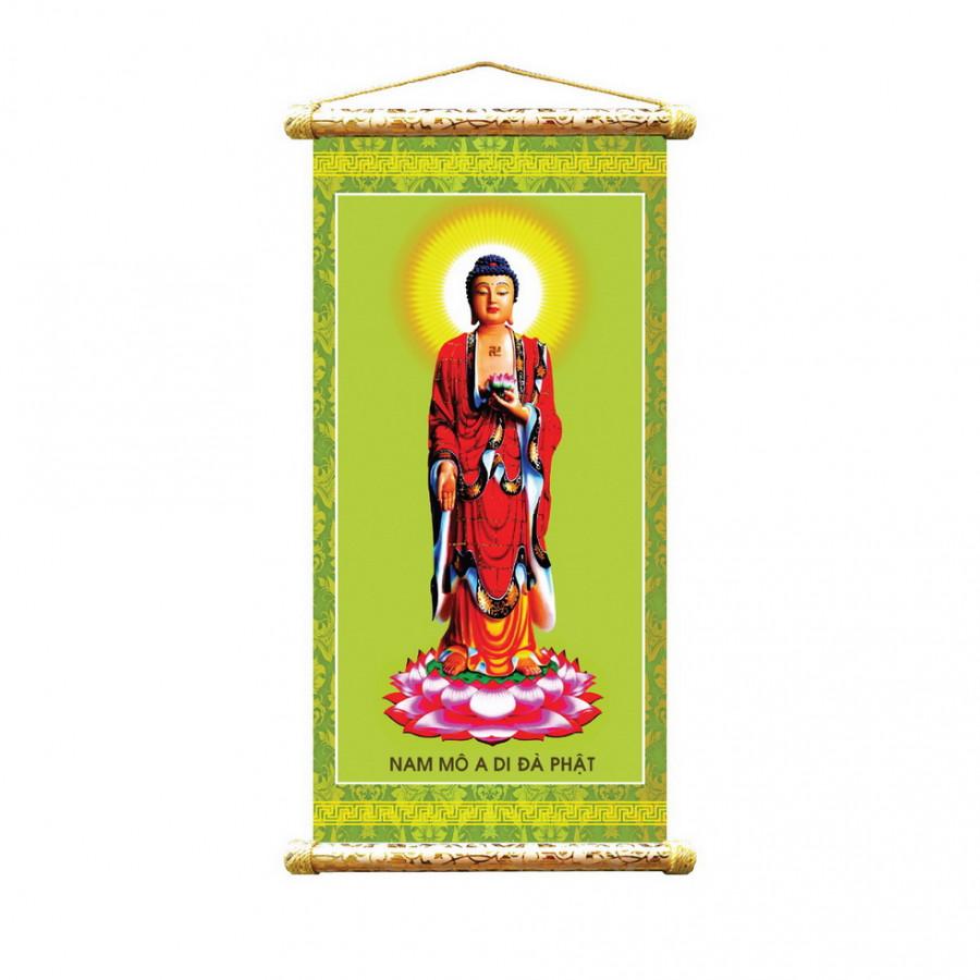 Tranh vải sáo trúc hình Phật  VTS - 3