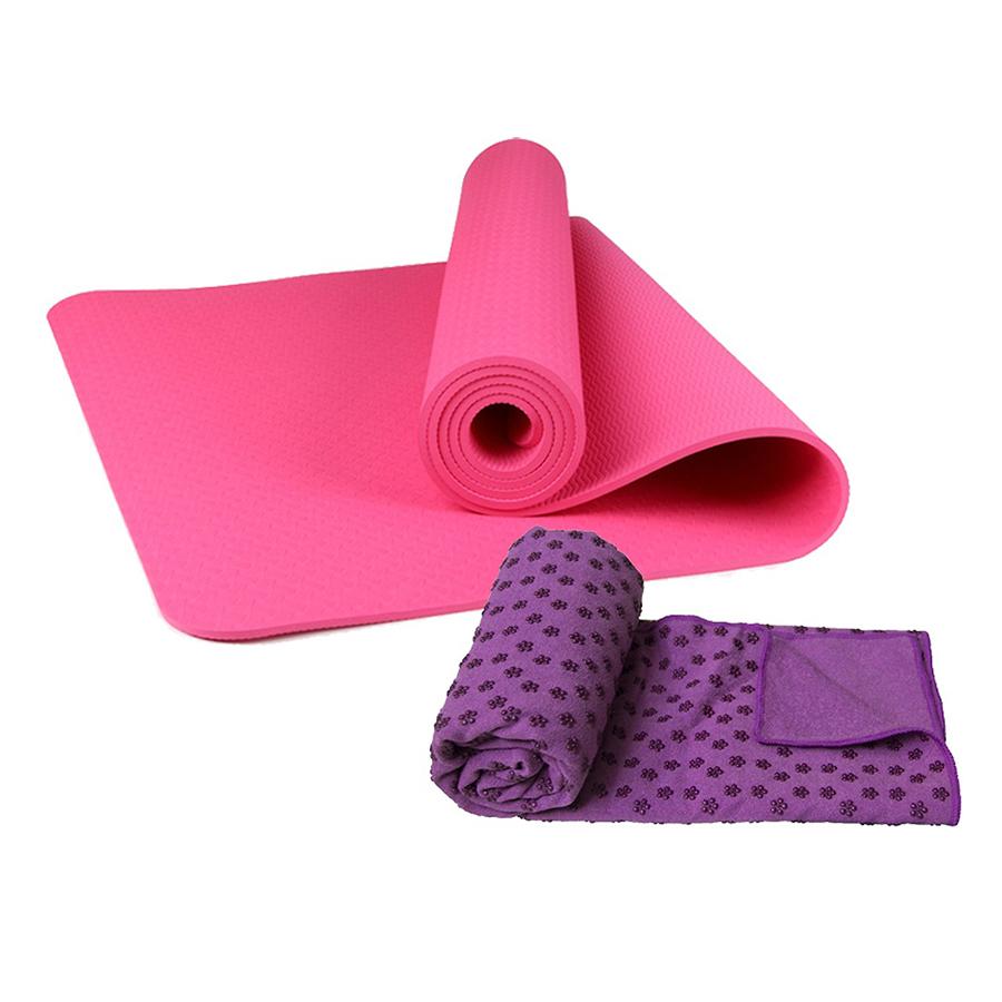 Combo Thảm tập yoga TPE 8mm 1 lớp + Khăn trải thảm hạt nổi silicon (Tặng túi đựng thảm vs dây buộc) - 9396518 , 6999087339643 , 62_2740509 , 650000 , Combo-Tham-tap-yoga-TPE-8mm-1-lop-Khan-trai-tham-hat-noi-silicon-Tang-tui-dung-tham-vs-day-buoc-62_2740509 , tiki.vn , Combo Thảm tập yoga TPE 8mm 1 lớp + Khăn trải thảm hạt nổi silicon (Tặng túi đựng thảm v