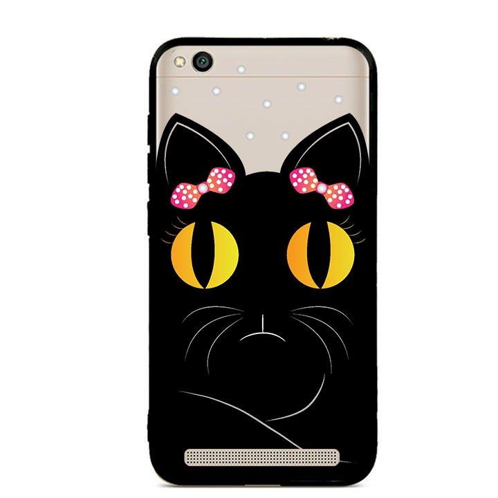 Ốp lưng viền TPU cho Xiaomi Redmi 5A - Mèo Mun 02