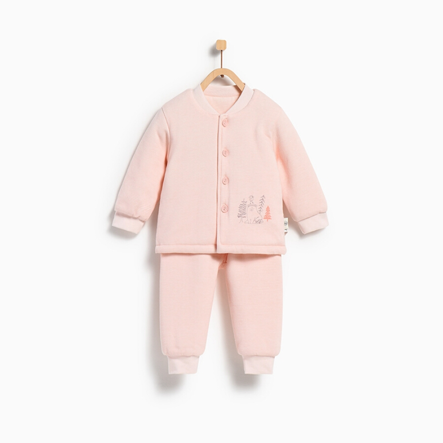 Tong Tai autumn and winter quilted baby suit TS82D036 pink 73