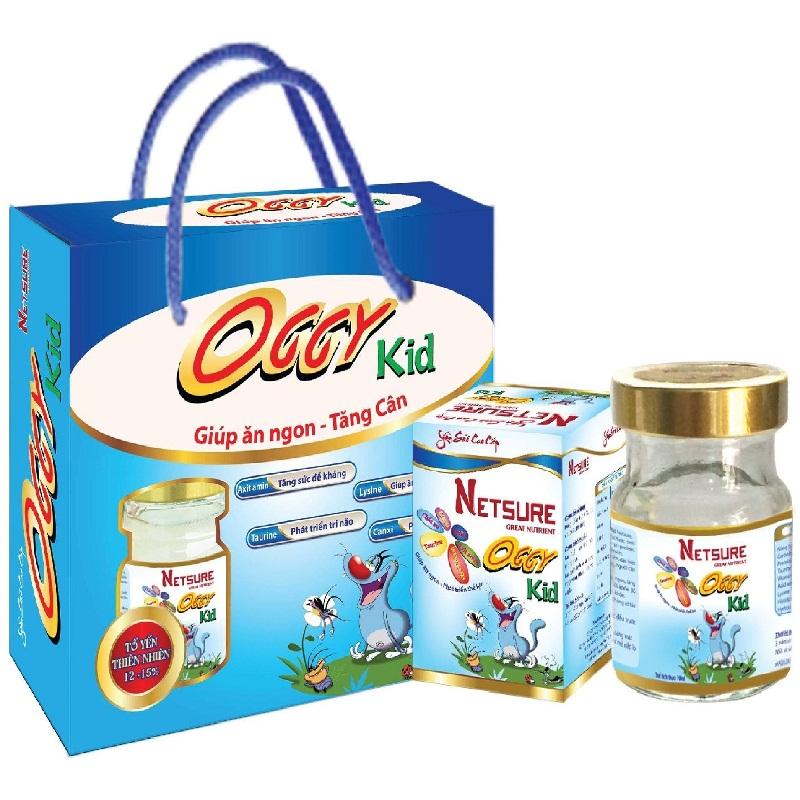 Lốc 6 lọ Yến Netsure cao cấp cho Trẻ em Kid Vitamin bổ sung dinh dưỡng (12% yến, 70ml/lọ)