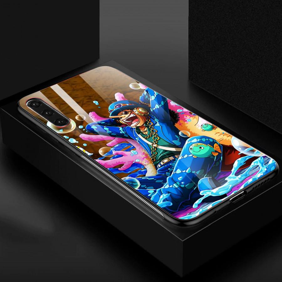 Ốp Lưng Luffy ,Dành Cho Máy Samsung a50-Ốp Mặt Kính ,Cạnh Viền TPU Dẻo,Ốp Cao Cấp