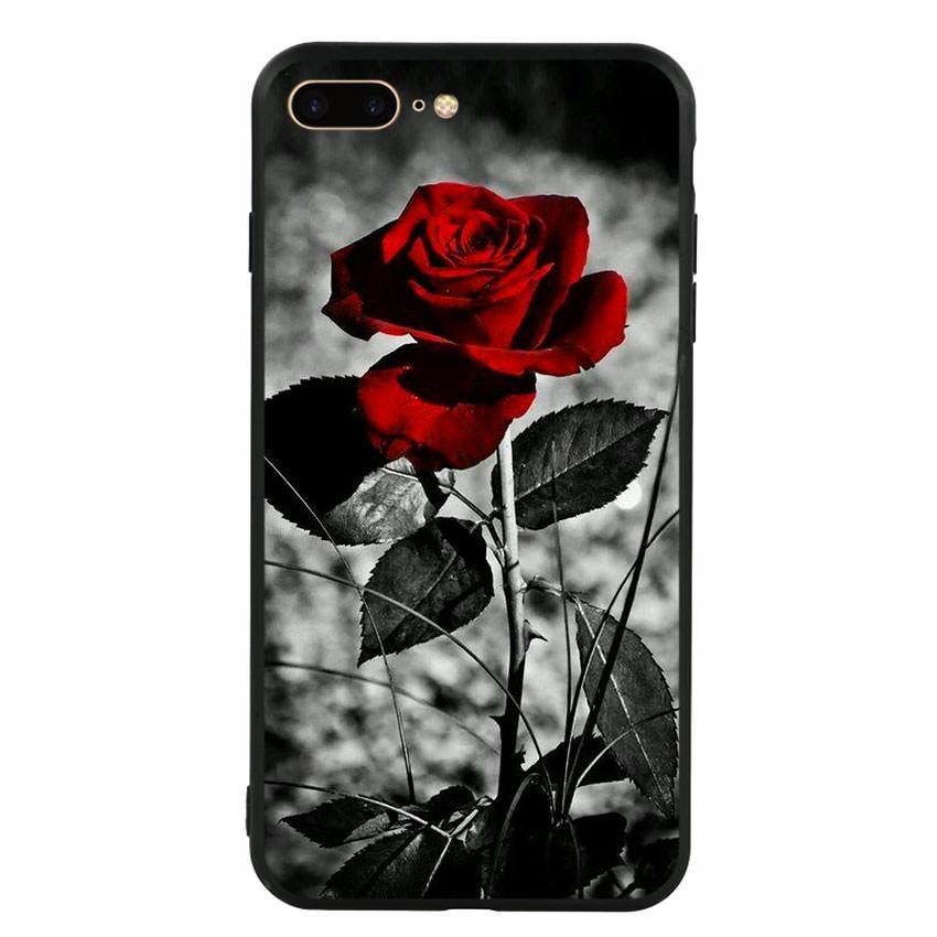 Ốp lưng viền TPU cho điện thoại Iphone 7 Plus/8 Plus -Rose 08