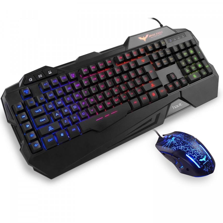 Bộ bàn phím chuột game Havit HV-KB558CM (Màu đen)