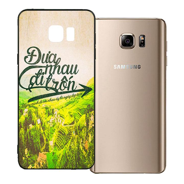 Ốp lưng viền TPU cho Samsung Galaxy Note 5 - Đưa Nhau Đi Trốn
