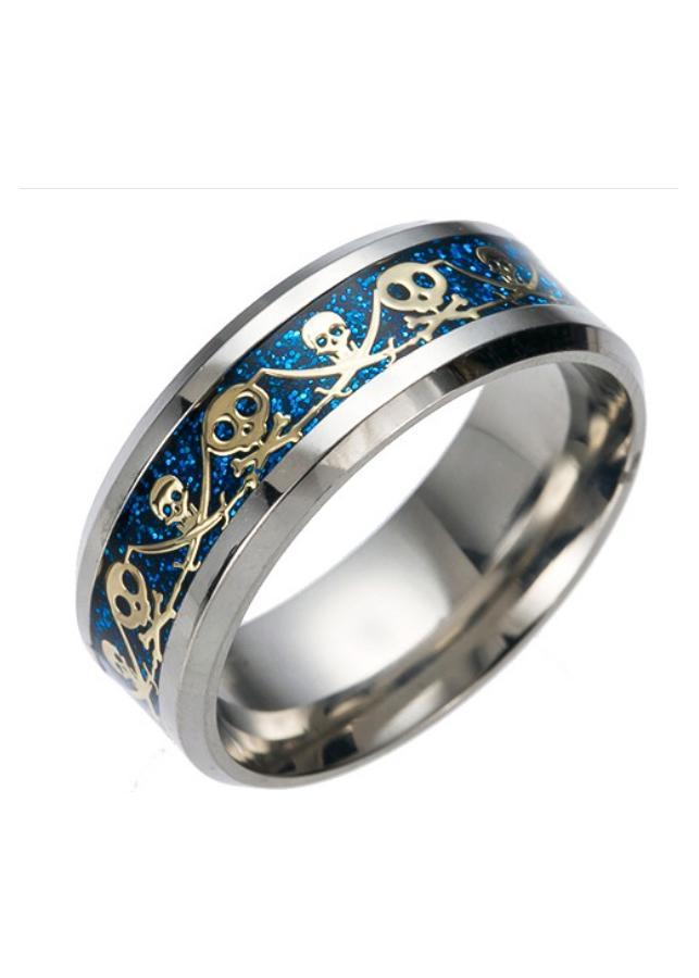 Nhẫn nam titan họa tiết phong cách Âu Mỹ NN051