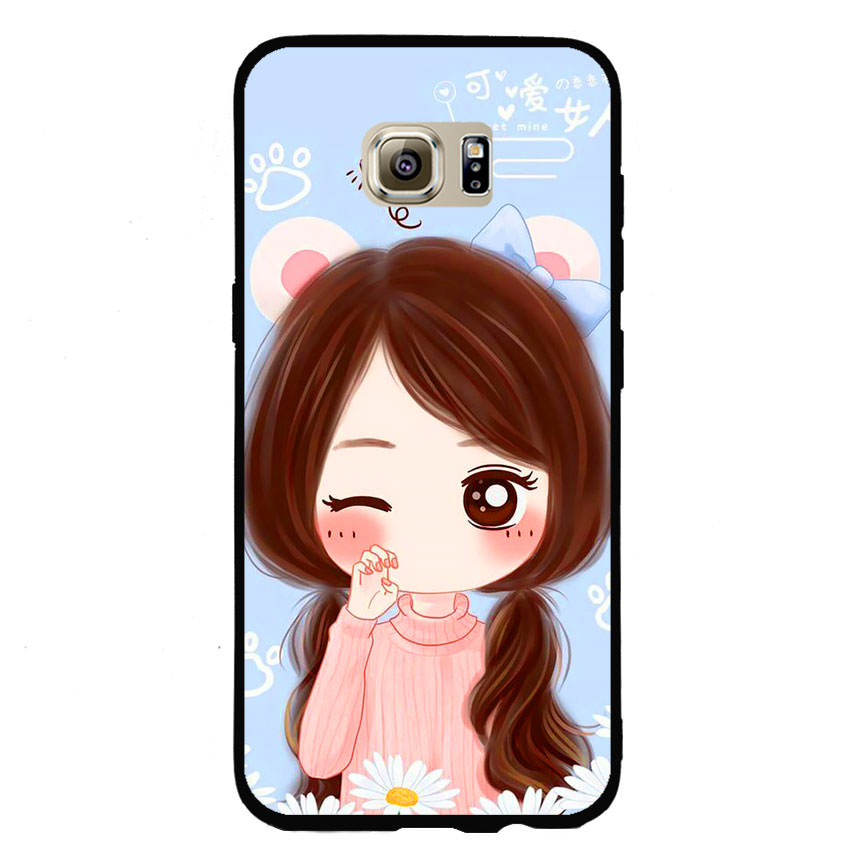 Ốp lưng nhựa cứng viền dẻo TPU cho điện thoại Samsung Galaxy S7 Edge -Baby Girl