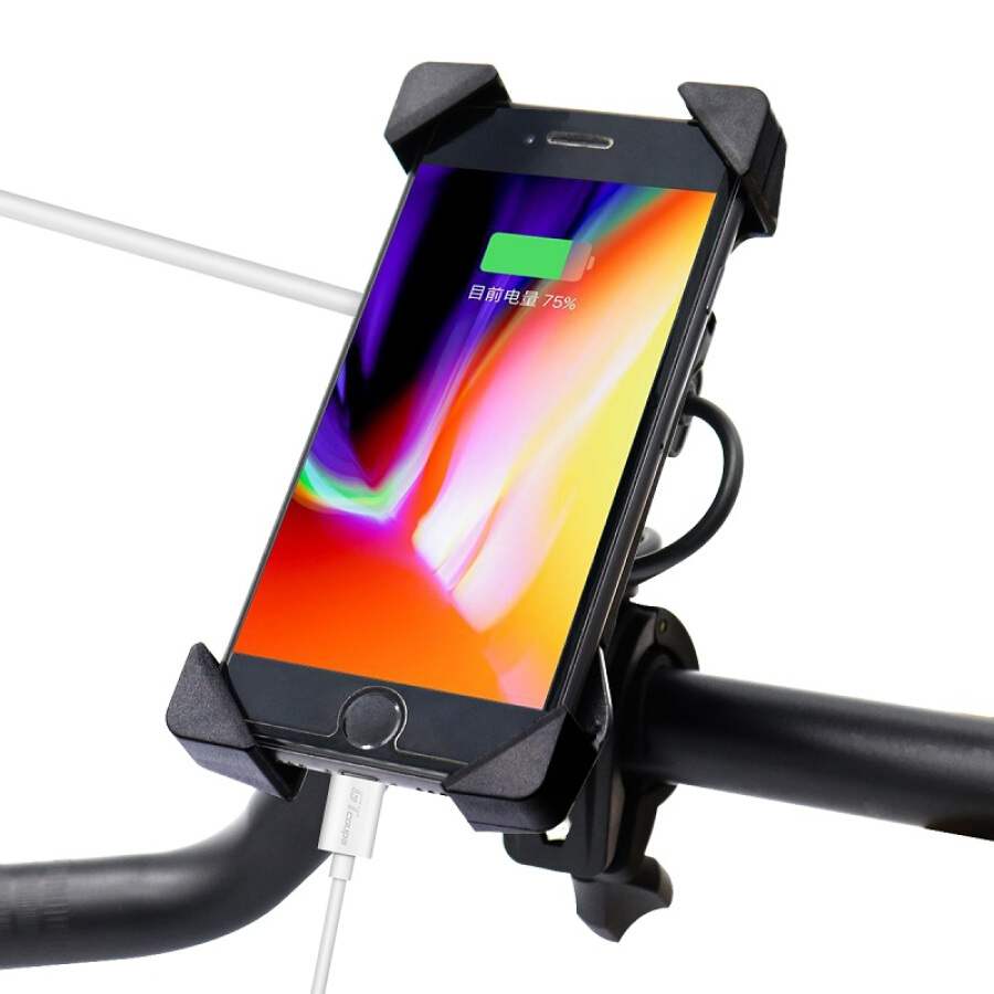 IZTOSS motorcycle mobile phone bracket with USB car charger mobile phone charger knight step car multi-function car charger 12-24V